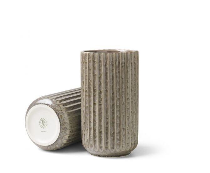 Lyngby Porcelæn Lyngby Radiance Vase Grau 15 cm_nicenordic_1