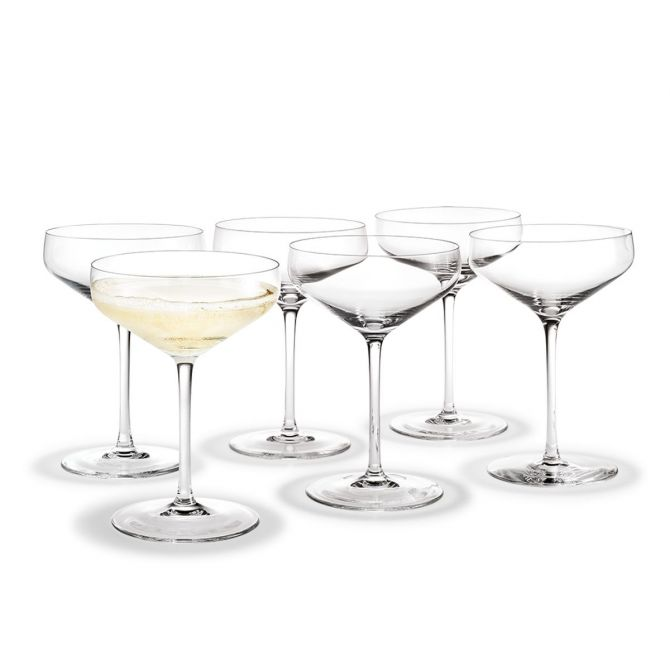 Holmegaard Perfection Cocktailglas Sektschale 38cl von Tom Nybroe. 6er-Set. Feines Klar-Glas. Cocktailgläser, Glas für Cocktails. Skandinavisches Glas und Design bei nicenordic.de