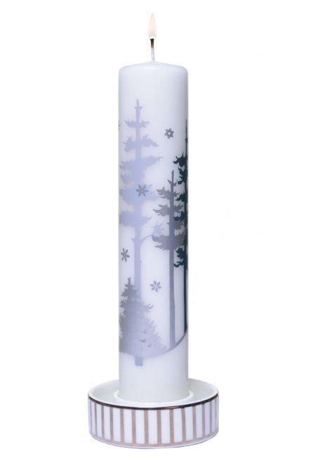 Jette Frölich Kerzenhalter Silberstreifen für Kalenderkerze, Adventskerze 1-24, Adventskalenderkerze, Stumpenkerze, Blockkerze oder als Teelichthalter. Schön als Weihnachtsschmuck. Weihnachtsdeko bei nicenordic.de