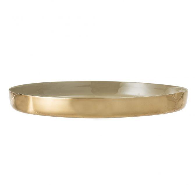 Bloomingville Tablett gold braun 40 cm