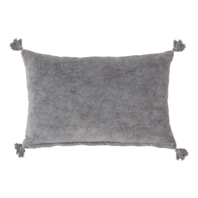 Bloomingville Kissen Grau mit Quasten 60x40cm_nicenordic_1