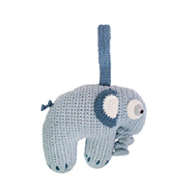 Sebra Häkel-Spieluhr Elephant Königsblau