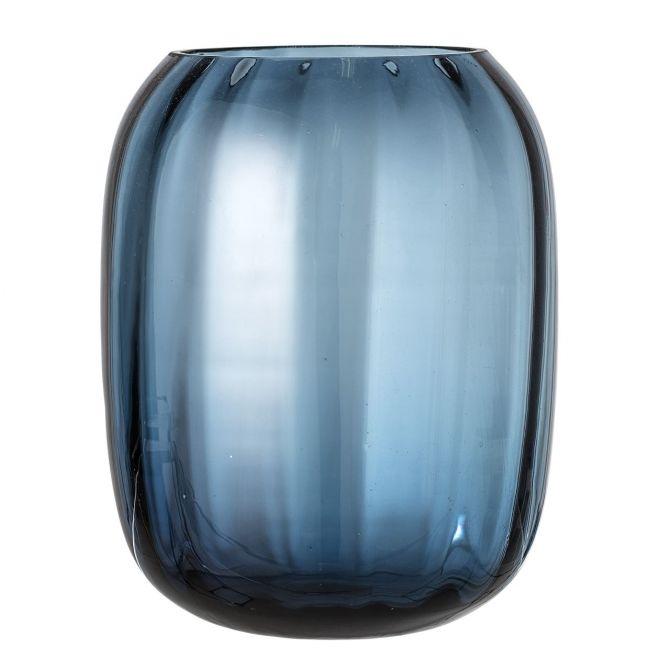 Bloomingville Vase Blau Glas 25 cm_nicenordic_1