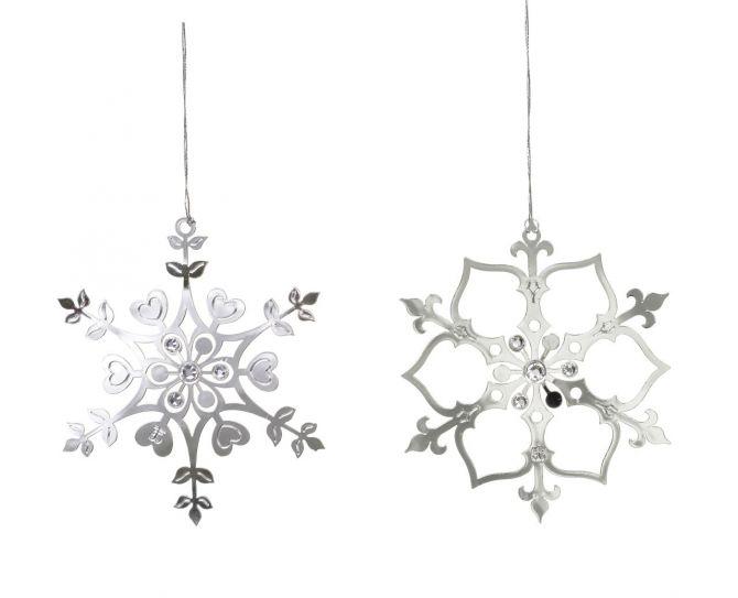 Jette Frölich Eiskristalle Silber mit Glasperlen 2er-Set