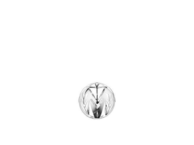 Rosendahl Copenhagen Weihnachtskugel Hängeschmuck Karen Blixen versilbert. Weihnachtsbaumkugel, Christbaumkugel, Baumkugel, Aufhänger und Baumschmuck in Silber. Skandinavischer Weihnachtsschmuck und Weihnachtsdeko bei nicenordic.de