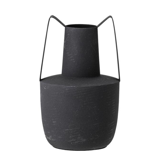Bloomingville Vase Amphore Metall Schwarz. Moderne Eisen-Vase im antiken Look. Wohnaccessoires bei nicenordic.de