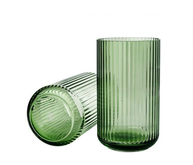 Lyngby Porcelæn Lyngbyvase Glas grün 25 cm