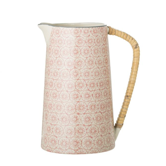 Bloomingville Cécile Kanne Krug Rosa 800 ml. Romantisches Geschirr aus Keramik bei nicenordic.de