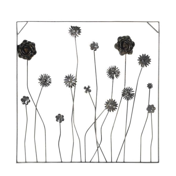 Broste Copenhagen Wandobjekt Flowers. Wandkunst Blumen aus Eisen. Deko-Objekt in Metall Schwarz. Wanddeko und Kunstdrucke bei nicenordic.de