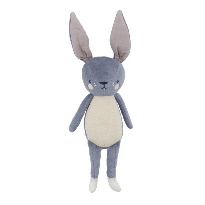 Sebra Kuscheltier Bluebell das Kaninchen. Stoff-Tier 40cm aus Baumwolle und Polyester. Farbe Lavendel-Blau, Creme-Weiss. Baby- und Kinder-Spielzeug bei nicenordic.de