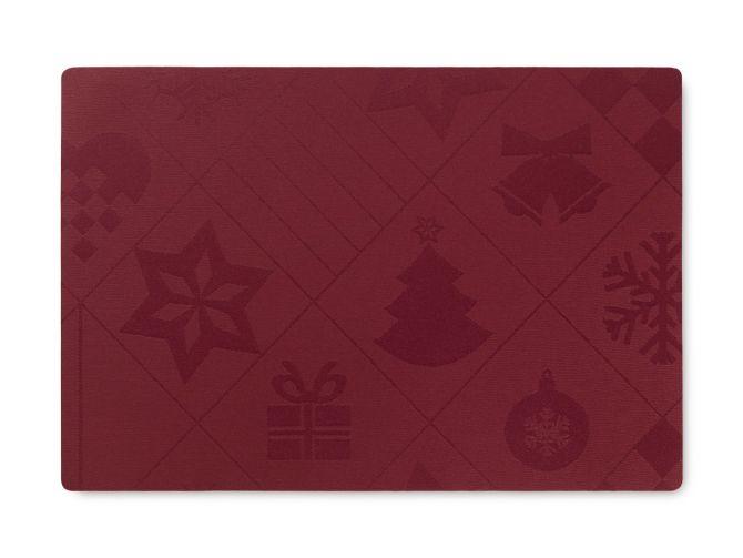 JUNA von Rosendahl Tischset Natale Weihnachten Rot 43 x 30 cm. Weihnachtstischset bzw Platzset. Acryl-beschichtet mit Schaumunterlage. Skandinavisches Design, Tischdekoration und Heimtextilien bei nicenordic.de