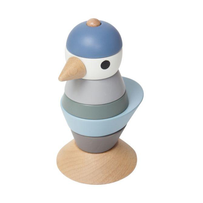 Sebra Stapel-Vogel aus Holz Blau_nicenordic_1