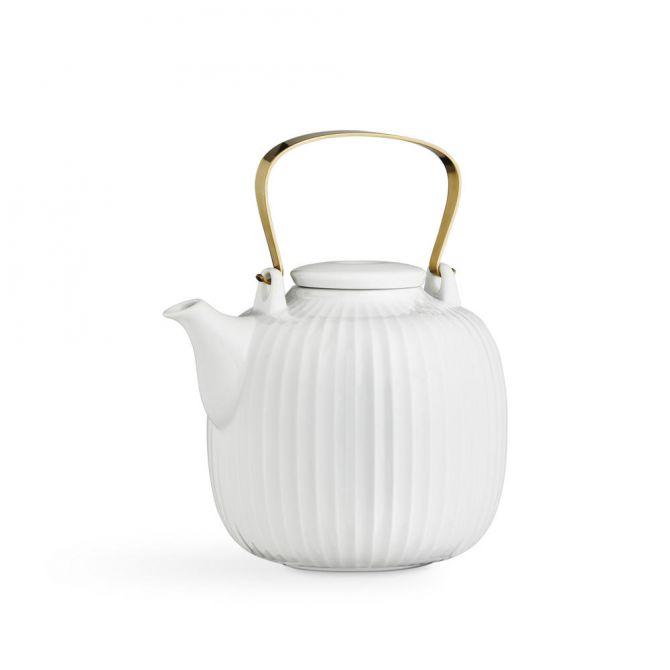 Kähler Hammershøi Teekanne 1,2 L weiß