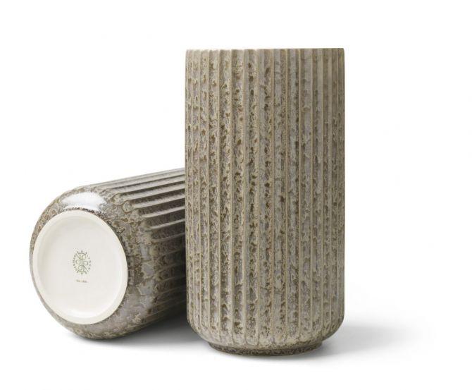Lyngby Porcelæn Lyngby Radiance Vase Grau 20 cm_nicenordic_1