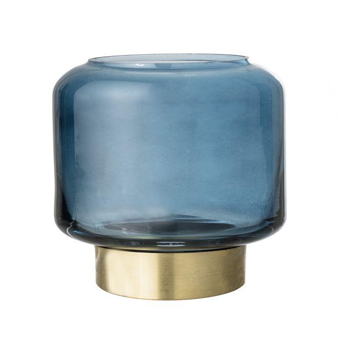 Bloomingville Teelichthalter Glas Blau