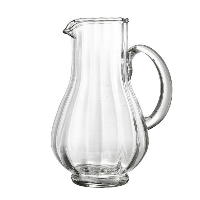 Bloomingville Kanne Pitcher Kännchen 50 cl recycletes Glas klar. Kannen, Karaffen, Gläser und Geschirr bei nicenordic.de