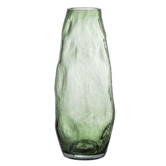 Bloomingville Vase Adufe Glas Grün. Glasvase H 35 x Ø 15 cm. Skandinavische Vasen und Deko bei nicenordic.de