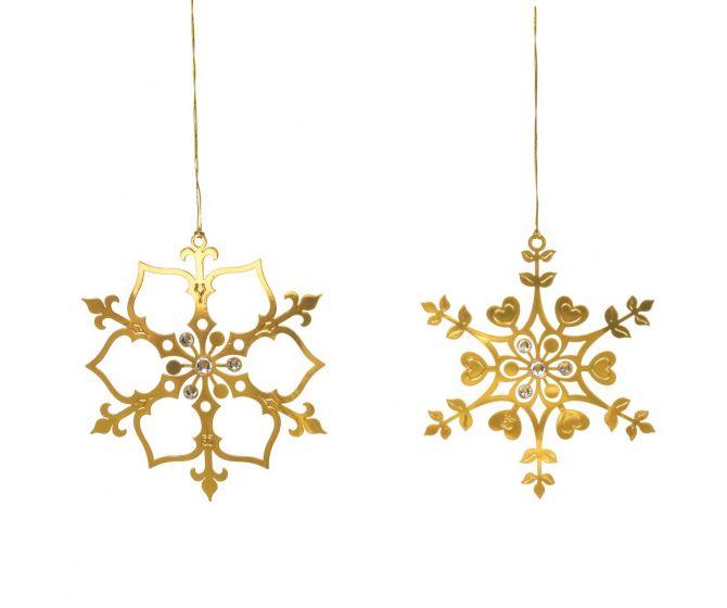 Jette Frölich Eiskristalle Gold mit Glasperlen 2er-Set_nicenordic_1